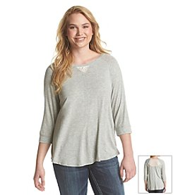 Eyeshadow® Knit Tee With Lace