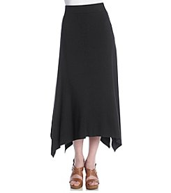 Chaus Solid Sharkbite Skirt