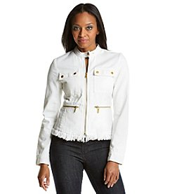 MICHAEL Michael Kors® Denim Frayed Jacket