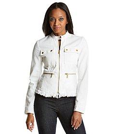 MICHAEL Michael Kors® Denim Frayed Jacket