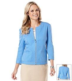 Rafaella® Doubleweave Zip Jacket