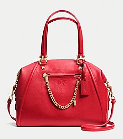 COACH PRAIRIE SATCHEL WITH CHAIN IN PEBBLE LEATHER