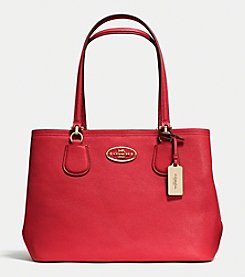 COACH KITT CARRYALL IN CROSSGRAIN LEATHER