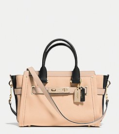 COACH SWAGGER 27 CARRYALL IN COLORBLOCK LEATHER