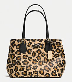 COACH KITT CARRYALL IN OCELOT PRINT CROSSGRAIN LEATHER