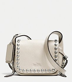 COACH RIVETS DAKOTAH 14 CROSSBODY IN PEBBLE LEATHER