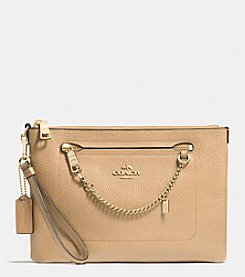 COACH PRAIRIE WRISTLET IN PEBBLE LEATHER