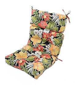 Greendale Home Fashions Aloha in Black Outdoor High Back Chair Cushion