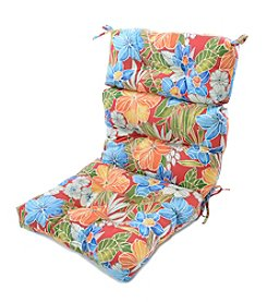 Greendale Home Fashions Aloha in Red Outdoor High Back Chair Cushion