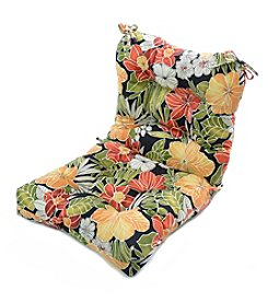 Greendale Home Fashions Aloha in Black Outdoor Seat and Back Chair Cushion