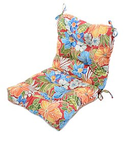 Greendale Home Fashions Aloha in Red Outdoor Seat and Back Chair Cushion