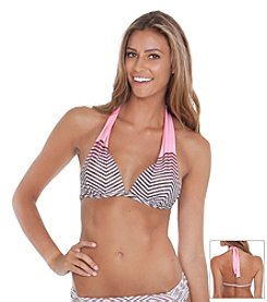 Gossip® Chevron Molded Halter Top