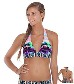 Gossip® Dayglow Palms Halter Top