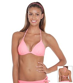 Gossip® Solid Molded Halter Swim Top