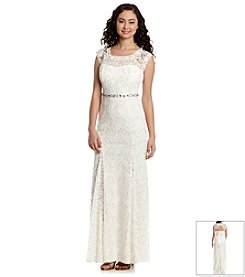 My Michelle® Beaded Lace Gown
