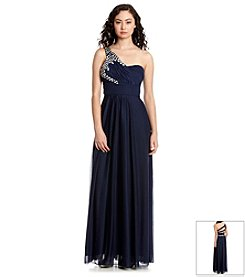 My Michelle® One Shoulder Beaded Gown