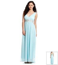 My Michelle® Stone Waist Gown
