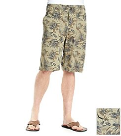 Ruff Hewn Heritage Men's Tropical Printed Flat Front Short