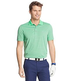 Izod Men's Short Sleeve Feeder Stripe Polo