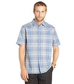 Van Heusen® Men's Big & Tall Short Sleeve Faux Linen Woven