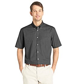 Van Heusen® Men's Short Sleeve Grid No-Iron Woven