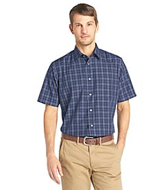 Van Heusen Men's Short Sleeve Windowpane No-Iron Woven