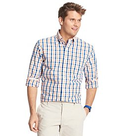 Izod® Men's Long Sleeve Medium Plaid Woven