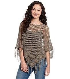 Hippie Laundry Crochet Poncho Cape