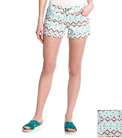 Celebrity Pink Geo Print Sateen Shorts