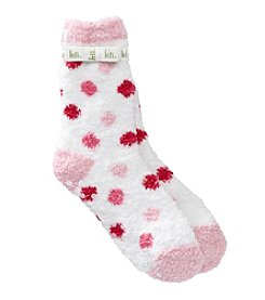 KN Karen Neuburger Multi Dot Slipper Socks