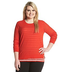 MICHAEL Michael Kors® Plus Size Stripe Layer Top