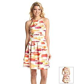 Vince Camuto® Brush Stroke Scuba Dress