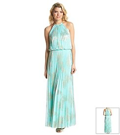 MSK® Gold Foil Maxi Dress