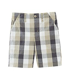 Ruff Hewn Boys' 2T-7 Flat Front Plaid Shorts