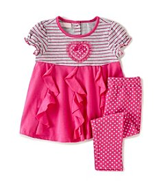Kids Headquarters® Baby Girls' Pattern Tunic And Leggings Set