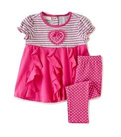 Kids Headquarters® Baby Girls' Pattern Tunic And Leggings Set
