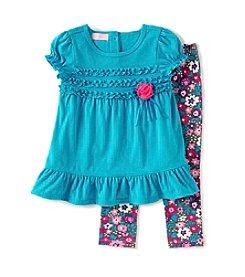 Kids Headquarters® Baby Girls' Tunic And Floral Leggings Set