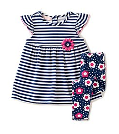 Kids Headquarters® Baby Girls' Striped Tunic And Leggings Set