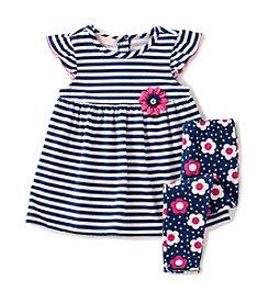 Kids Headquarters® Baby Girls' Striped Tunic And Leggings Set