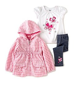 Kids Headquarters® Baby Girls' 3-Piece Jacket Outfit Set