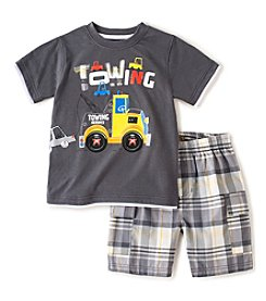 Kids Headquarters® Baby Boys' 2-Piece Tow Truck Shorts Set