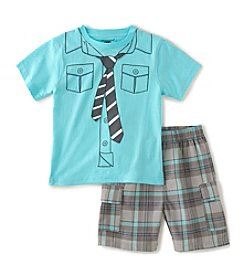 Kids Headquarters® Baby Boys' 2-Piece Shirt And Tie Shorts Set