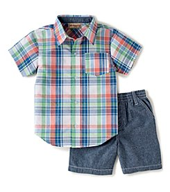 Kids Headquarters® Baby Boys' 2-Piece Plaid Shorts Set