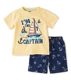 Kids Headquarters® Baby Boys' 2-Piece Captain Shorts Set