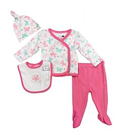 Vitamins Baby® Baby Girls' 4-Piece Butterfly Take Me Home Set