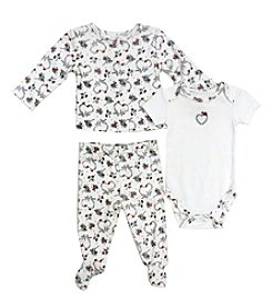 Vitamins Baby® Baby Girls' 3-Piece Hearts Take Me Home Set