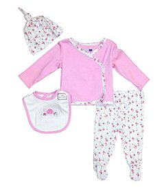 Vitamins Baby® Baby Girls' 4-Piece Turtle Take Me Home Set