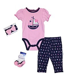 Vitamins Baby® Baby Girls' 4-Piece Nautical Take Me Home Set