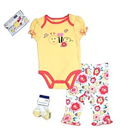 Vitamins Baby® Baby Girls' 4-Piece Bee Take Me Home Set