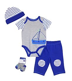 Vitamins Baby® Baby Boys' 4-Piece Sailboat Take Me Home Set